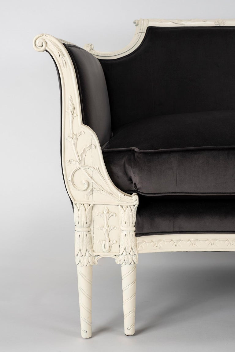 Hand-Carved 19th Century Chippendale Sofa For Sale