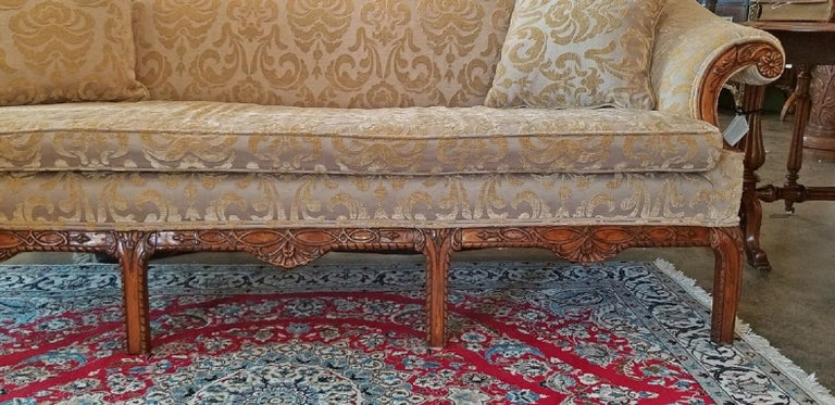 19th Century Chippendale Style Camel Back Sofa For Sale 3