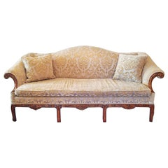 19th Century Chippendale Style Camel Back Sofa