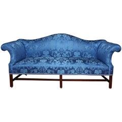 19th Century Chippendale Style Camelback Mahogany Sofa