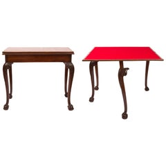 19th Century Chippendale Style Folding Gaming / Cards Table