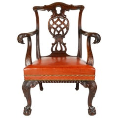 19th Century Chippendale style Mahogany Armchair