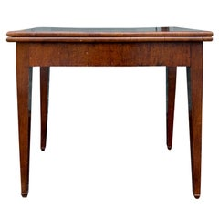 19th Century Chippendale Style Mahogany Flip Top Card Table with Leather Top