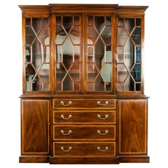 19th Century Chippendale Style Mahogany Hutch / China Cabinet