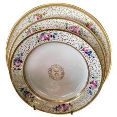 19th Century circa 1830 Porcelaine de Paris Table Service, Porcelain