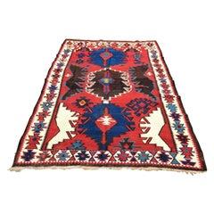 19th Century Classic Kuba Kilim Oriental Carpet