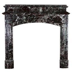 19th Century Classic Vintage Grand Marble Fireplace Surround
