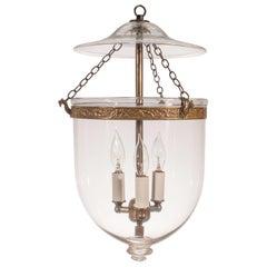 19. Jahrhunderts klar Glas Glasglocke Laterne
