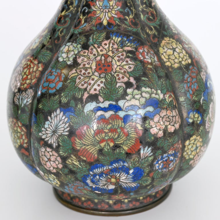 Chinese Early 19th Century Cloisonné Vase, China