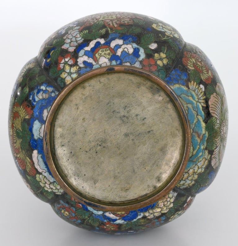 Enamel Early 19th Century Cloisonné Vase, China