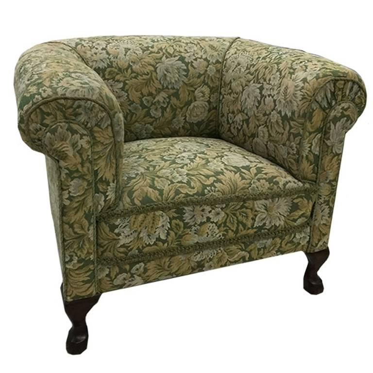 19th Century Club Roll Armchair For Sale