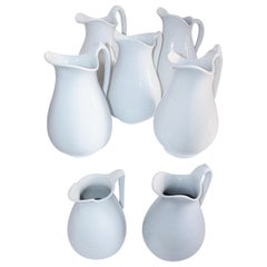 19th Century Collection of Seven Ironstone Pitchers