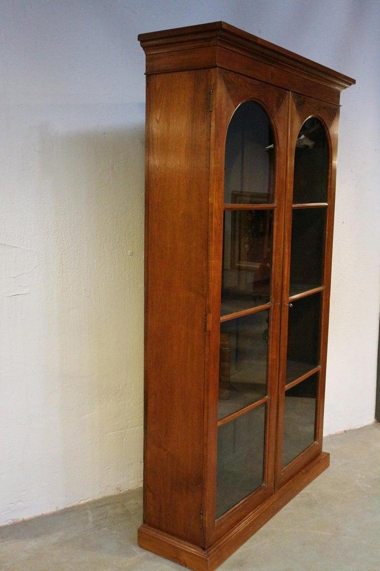 19th Century Colonial Teak 2-Door bookcase For Sale 3