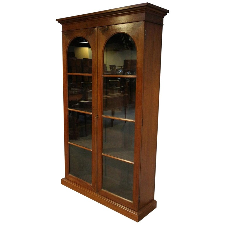 19th Century Colonial Teak 2-Door bookcase For Sale