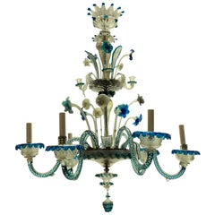 19th Century Colored Murano Chandelier