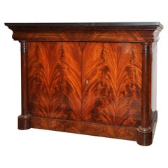 19th Century Commode à Vantaux Flame Mahogany, France, 1815
