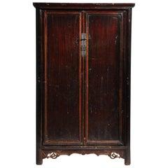 19th Century Compact Chinese Round-Corner Cabinet