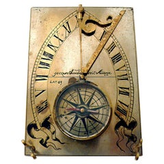 19th Century Compass Sundial, Jacque Linedal, Dieppe, France