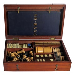 19th Century Complete Games Compendium in Hardwood Jointed Box over 8 Games