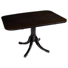19th Century Completely Restored Czech Empire Black Table, Pearwood, 1820-1829