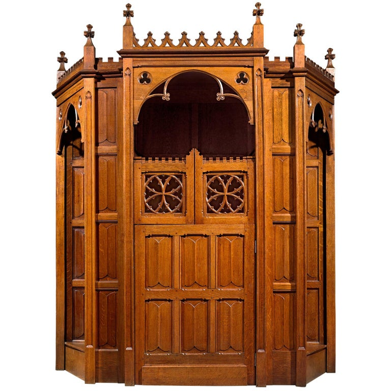 19th Century Confessional For Sale
