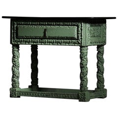 19th Century Console in Carved Wood French Work
