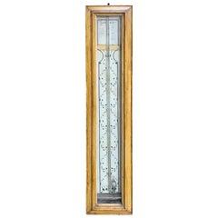 19th Century Continental Faux Bois Stick Barometer