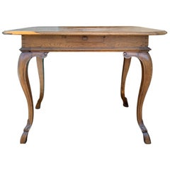 19th Century Continental Inlaid Side Table with 4 Drawers, Hoof Feet