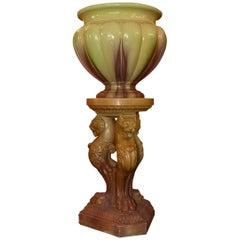 19. Jahrhundert Kontinentale Majolika Vase