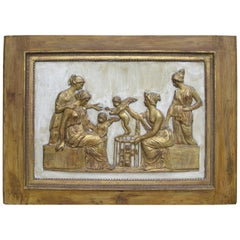 19th Century Continental Neoclassical Molded Plaster Relief Plaque