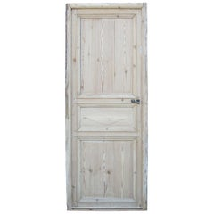 19th Century Continental Pine Door with Frame