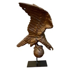 19th Century Copper Eagle Weather Vane, Likely by Jewell, circa 1860