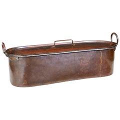 19th Century Copper Fish Kettle