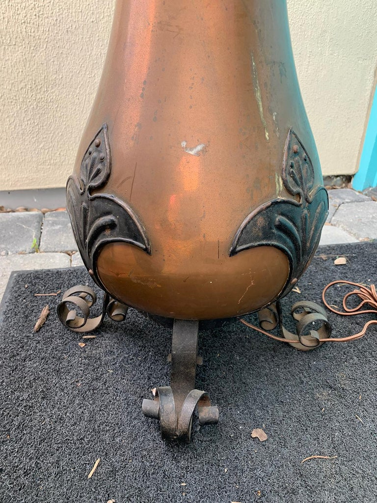 19th Century Copper Oil Lamp For Sale 1