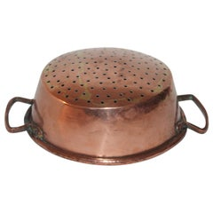 19th Century Copper Strainer with Handles