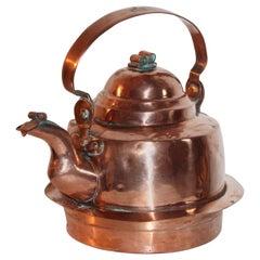 19th Century Copper Tea Kettle Handmade