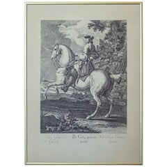 19th Century Copperplate Engraving by J.E. Ridinger