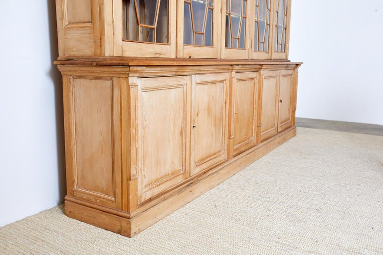 Country English Pine Library Bookcase Cabinet  3