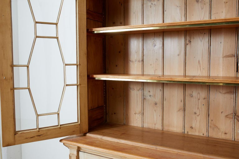 Country English Pine Library Bookcase Cabinet  4