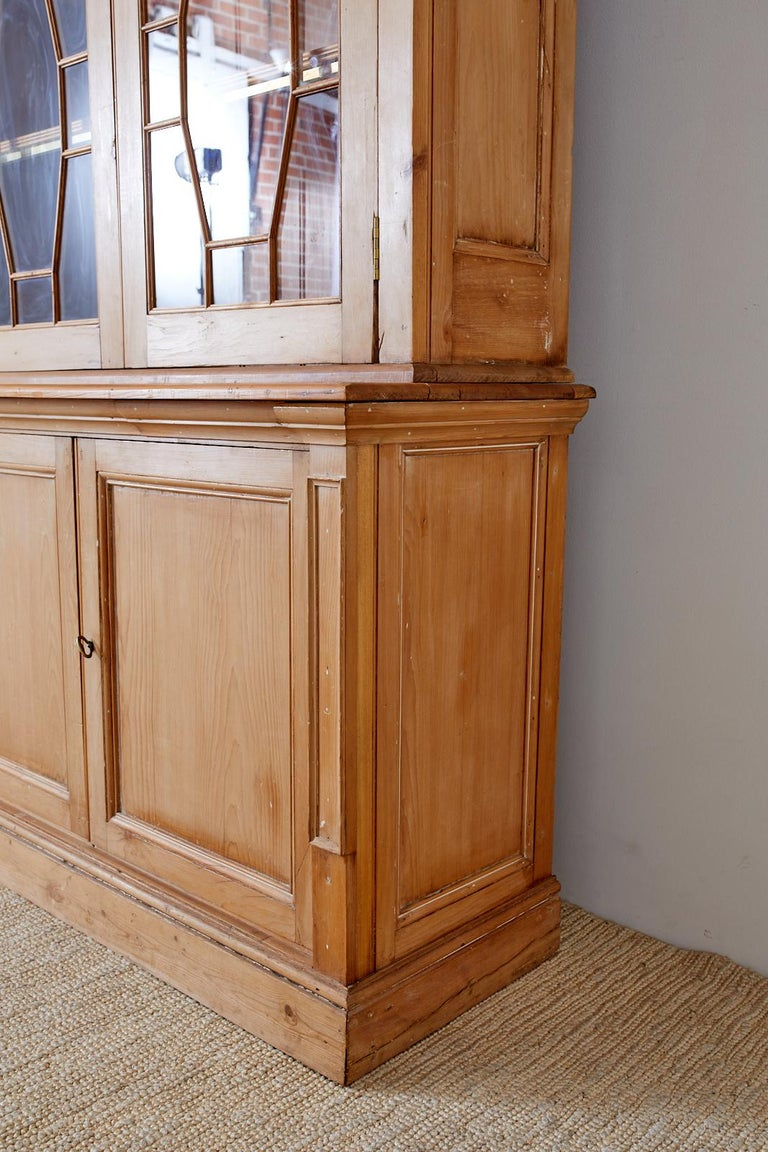 Country English Pine Library Bookcase Cabinet  8
