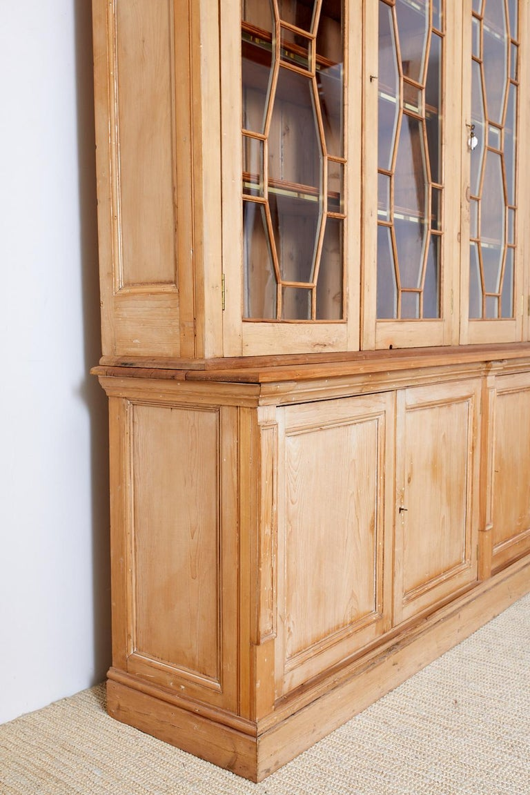 Country English Pine Library Bookcase Cabinet  10
