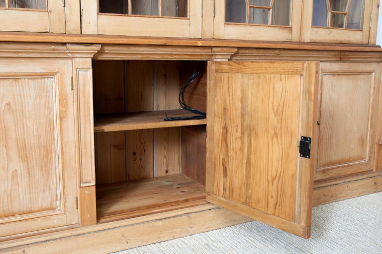 Country English Pine Library Bookcase Cabinet  11