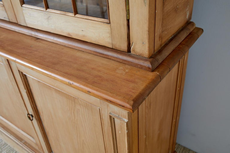 Country English Pine Library Bookcase Cabinet  12