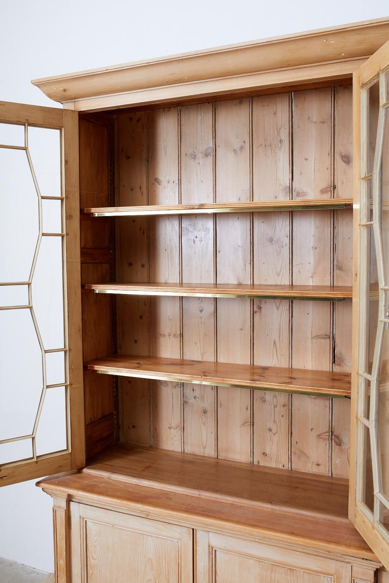 Country English Pine Library Bookcase Cabinet  2