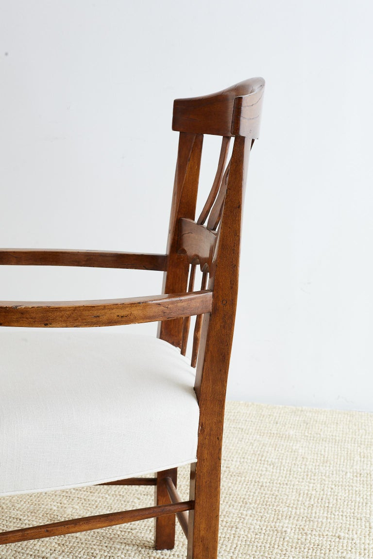 19th Century Country French Carved Fruitwood Armchair For Sale 15