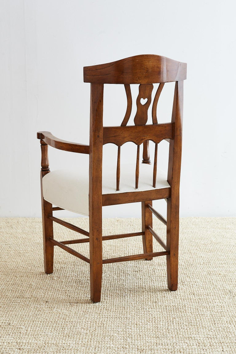 19th Century Country French Carved Fruitwood Armchair In Excellent Condition For Sale In Oakland, CA