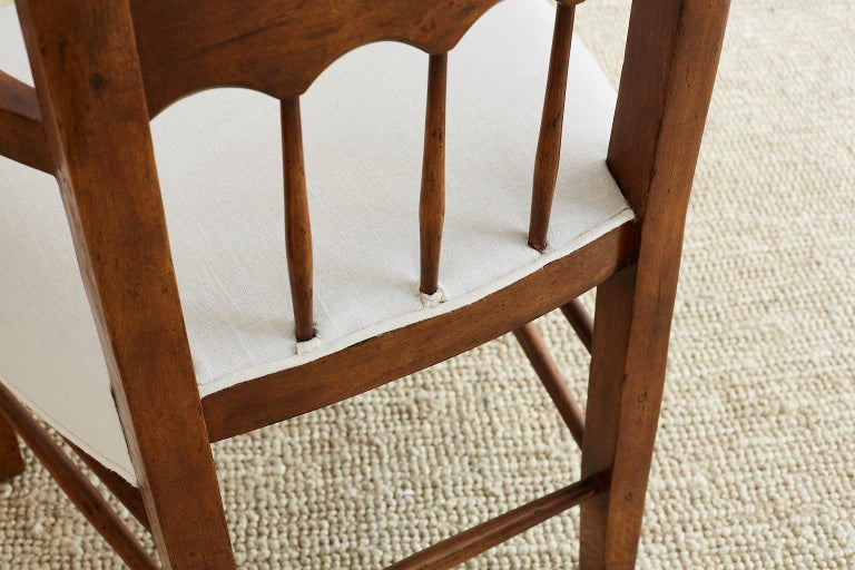 19th Century Country French Carved Fruitwood Armchair For Sale 2