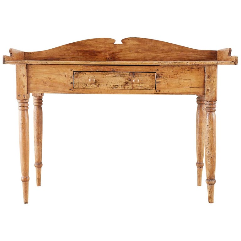 19th Century Country French Farmhouse Pine Server Sideboard
