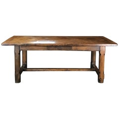 19th Century Country French Farmhouse Refectory Dining Table