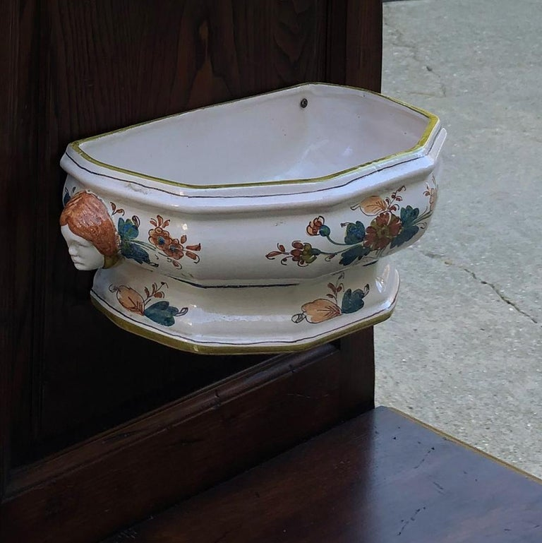 19th Century Country French Fountain with Porcelain Reservoir and Basin For Sale 5